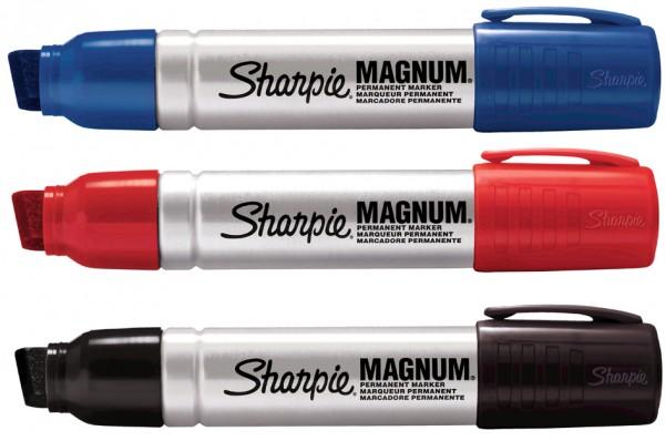 Sharpie Permanent-Marker METAL MAGNUM, Keilspitze, schwarz