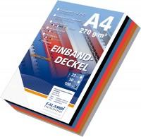 100 Einbanddeckel Lederstruktur, Falambi / Premium 270 - weiß