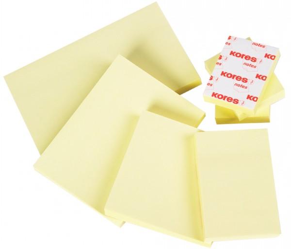 Kores Haftnotizen ´notes´, 50 x 40 mm, blanko, gelb