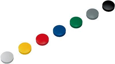 10 Haftmagnete, 32 mm rund, (H) 8,5 mm, farbig sortiert