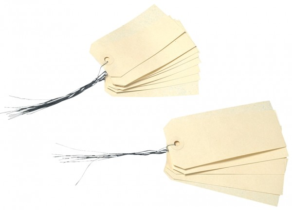 agipa Gepäckanhänger, 100 x 51 mm, neutral, mit Draht | Falambi