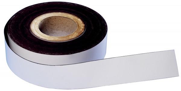 magnetoplan Magnetband, PVC, weiß, 50 mm x 30 m