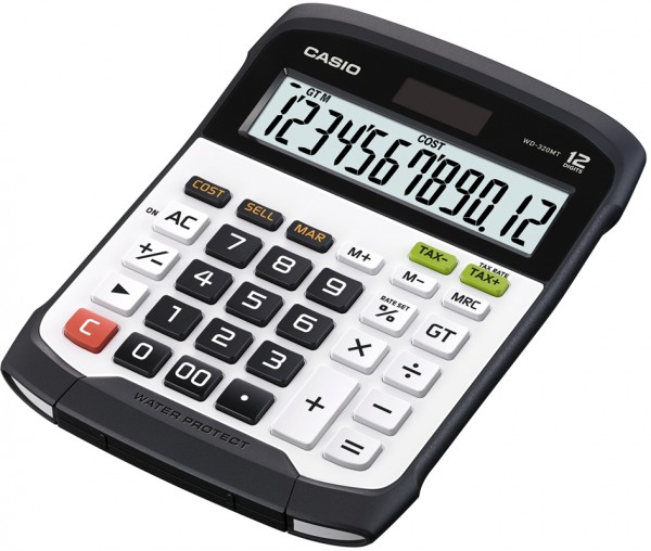 CASIO Tischrechner WD-320 MT, Solar-/ Batteriebetrieb