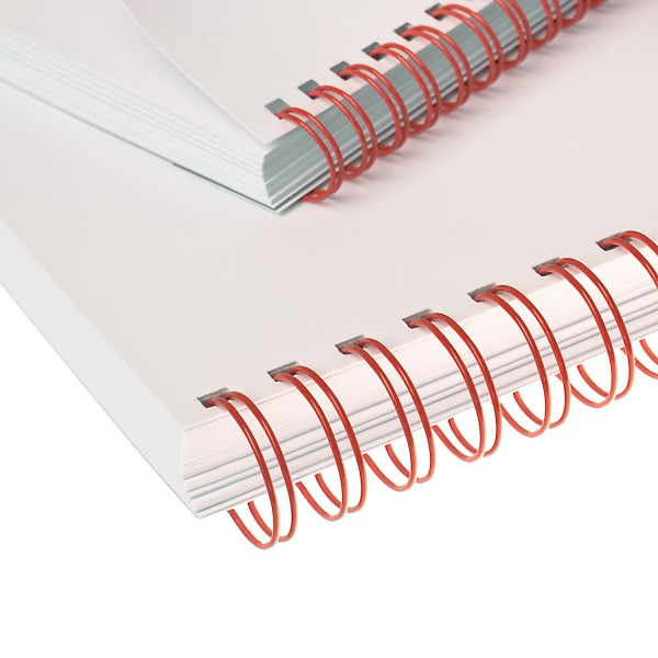 RENZ Drahtbinderücken, Teilung 3:1, 5.5 mm - rot