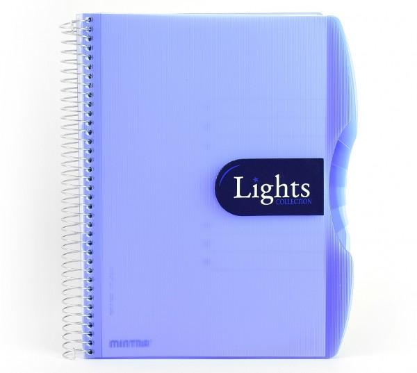 """Notizbuch """"Lights"""", Spirale - PP-Hardcover - flexibles Register"""