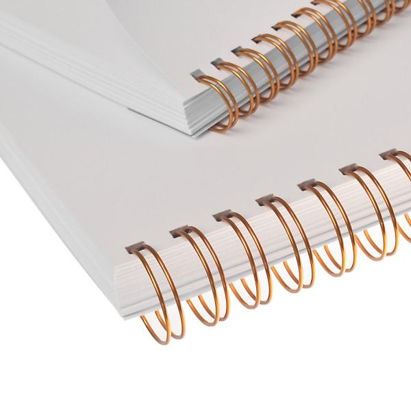 RENZ Drahtbinderücken, Teilung 3:1, 5.5 mm - gold metallic