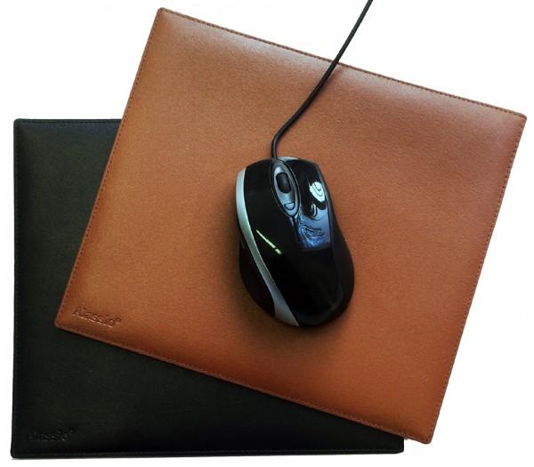 Alassio Maus Pad, aus echtem Leder, Farbe: schwarz