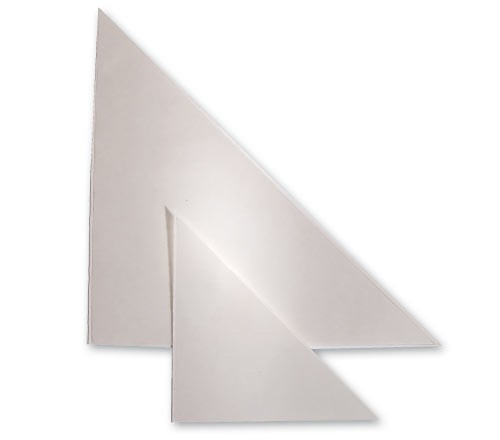 RENZ selbstklebende Dreiecktaschen - 100 x 100 mm
