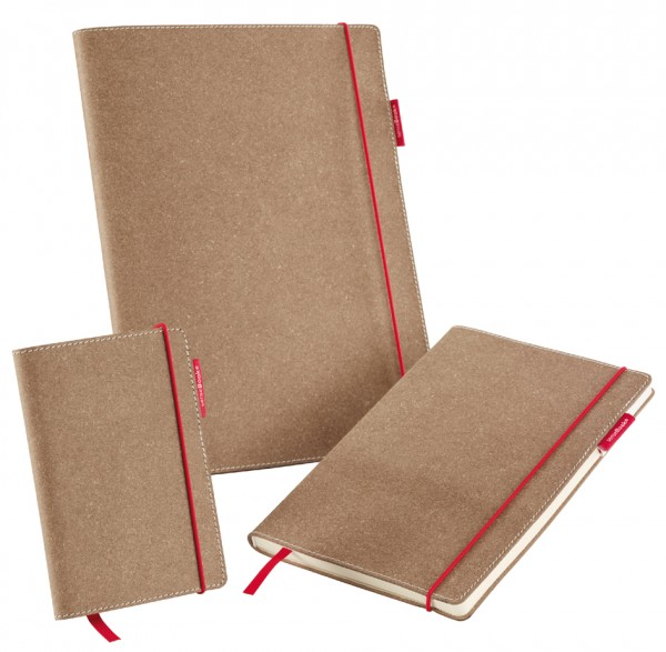 transotype Notizbuch ´senseBook RED RUBBER´, Medium, blanko