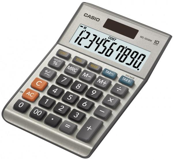 CASIO Tischrechner MS-100 BM, Solar-/ Batteriebetrieb