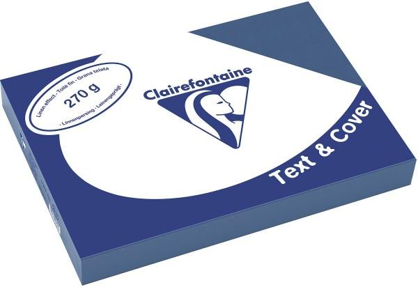 Clairefontaine Einbanddeckel, Leinenstruktur, 270 g/m² - blau - blau