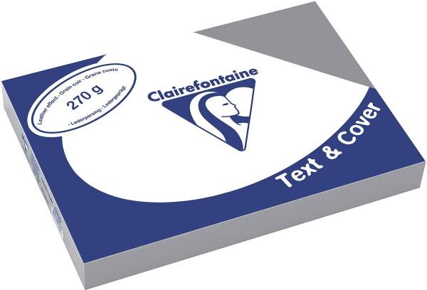Clairefontaine Einbanddeckel, Lederstruktur, 270 g/m² - ardennengrau - ardennengrau