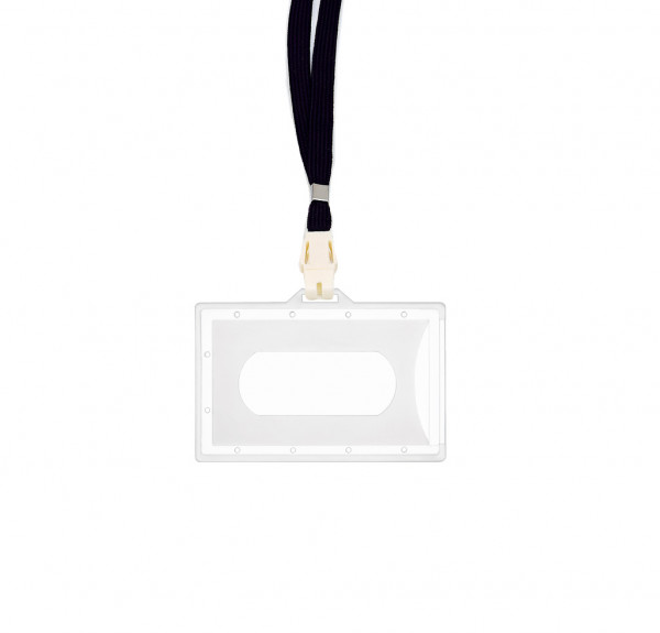 5 Kartenhalter inkl. CLIP - transparent matt - dunkelblau