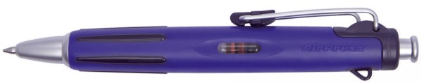 TOMBOW Druckkugelschreiber ´AirPress Pen´, blau/silber