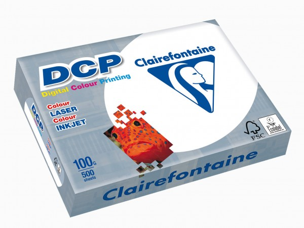 Clairfontaine Druckerpapier DCP, DIN A4, weiß, 250 g/qm