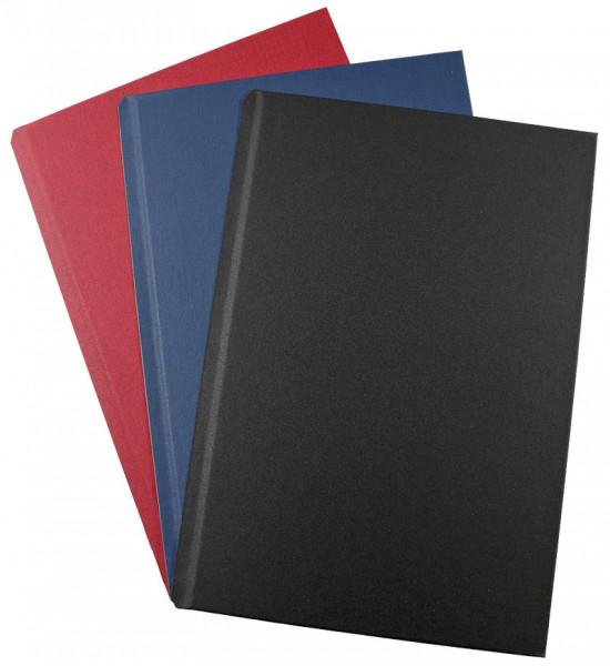 HardCover-Einbanddeckel A4+ (304 mm) Modern - schwarz matt - blau