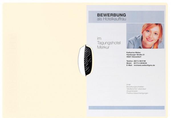 PAGNA Bewerbungsmappe ´Swing´, DIN A4, aus Karton, beige
