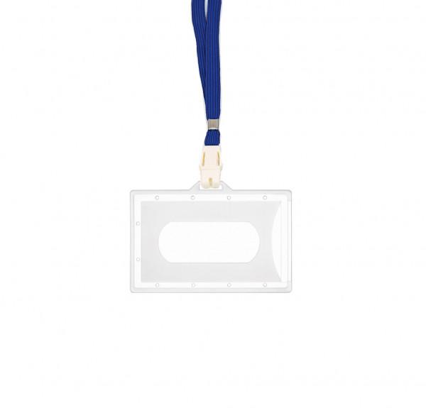 5 Kartenhalter inkl. CLIP - transparent matt - blau