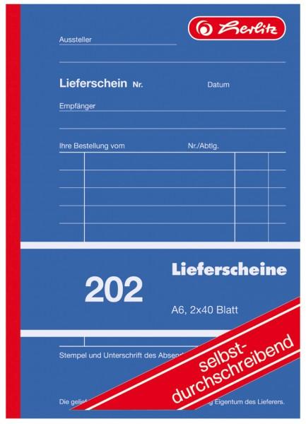 herlitz Formularbuch ´Liefer-/Empfangsschein 204´, DIN A5
