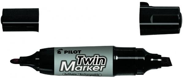 PILOT Permanent-Marker ´Twin Marker Jumbo´, schwarz