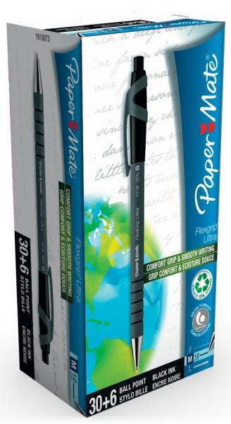 Paper:Mate Druckkugelschreiber FlexGrip Ultra, schwarz