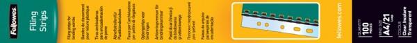 Fellowes Abheftstreifen für Plastikbindung, transparent