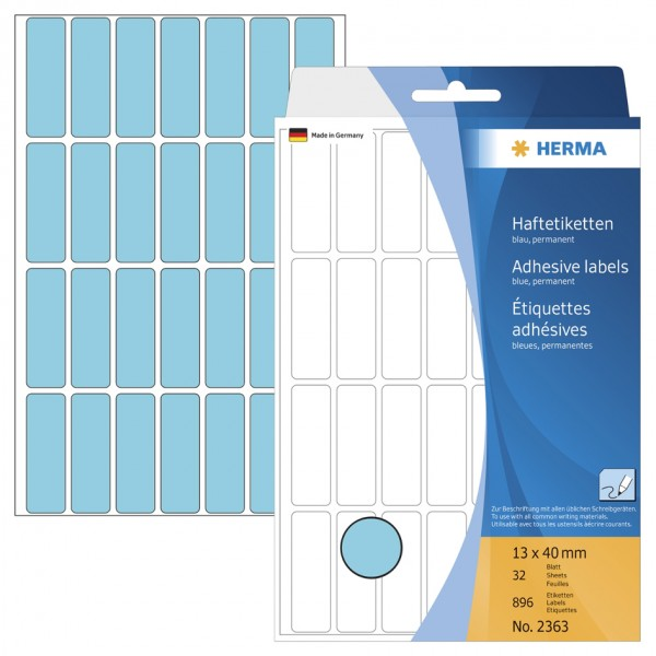 HERMA Vielzweck-Etiketten, 12 x 18 mm, gelb, Großpackung
