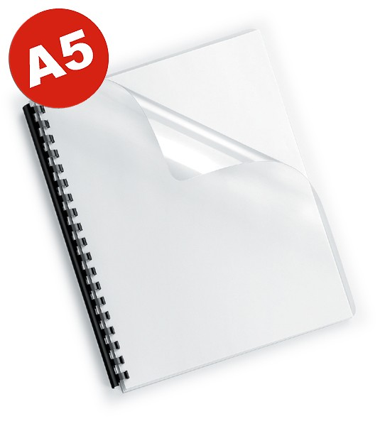 DIN A5 Deckelfolien, transparent-klar, 200mic