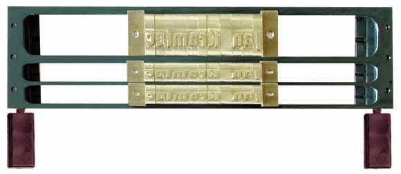 O. Frame 1L9/2L4 für 1 Reihe 9mm und 2 Reihen 4mm Fonts