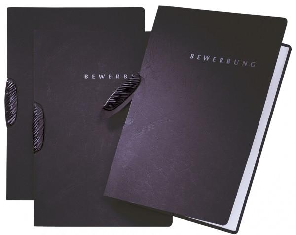 PAGNA Bewerbungsmappe ´Swing´, DIN A4, aus Karton, schwarz