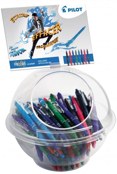 PILOT Tintenroller FRIXION BALL CLICKER 07, 108er Display