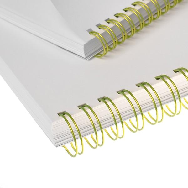 RENZ Drahtbinderücken, Teilung 3:1, 5.5 mm - gelb fluoreszierend