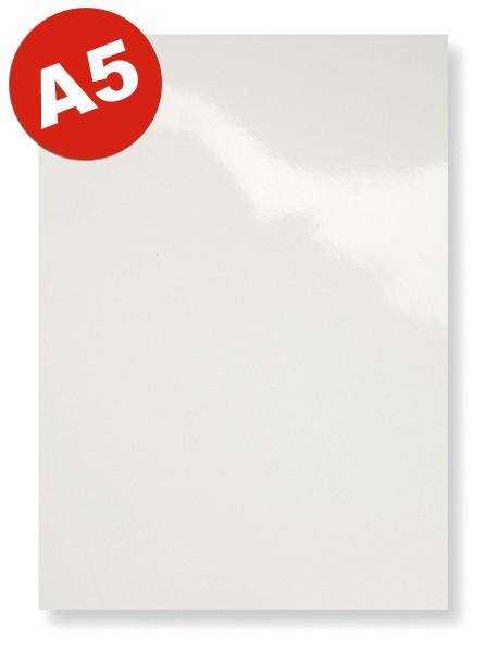 DIN A5 Einbanddeckel Glanzkarton, weiß