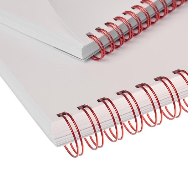 RENZ Drahtbinderücken, Teilung 3:1, 5.5 mm - rot metallic